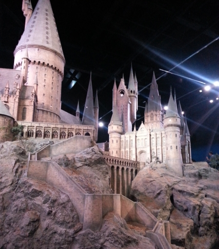 Hogwarts Castle Model in the Warner Brothers Studio