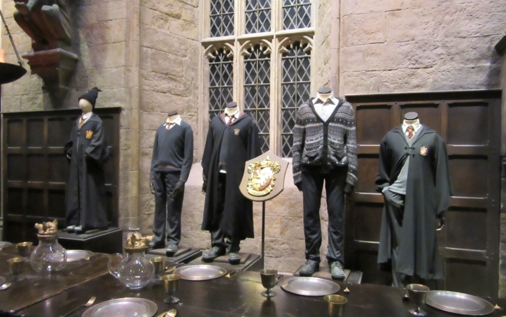 Gryffindor Robes in the Warner Brother's Studio Tour