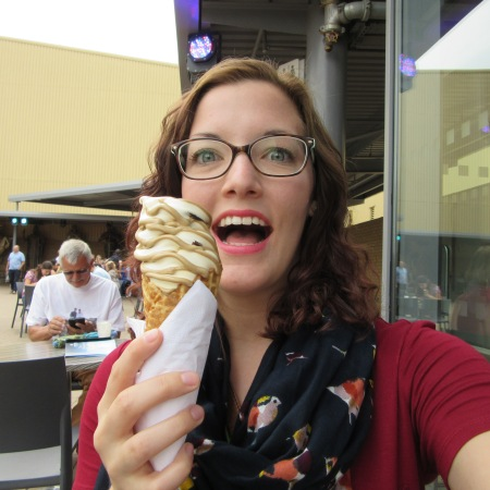 Butterbeer ice cream at the Warner Brothers Studio Tour