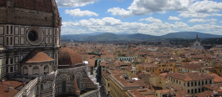 A view of Florence's Duomo from the Campanile