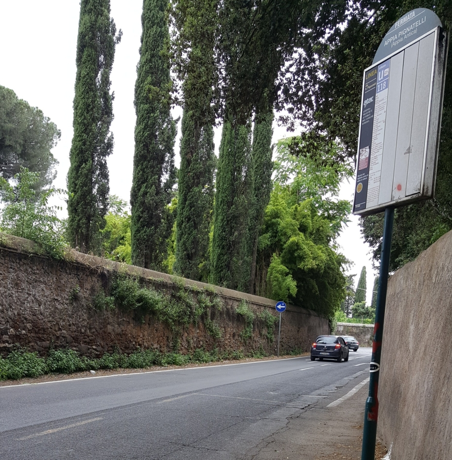 Roman bus stop near Appia Antica