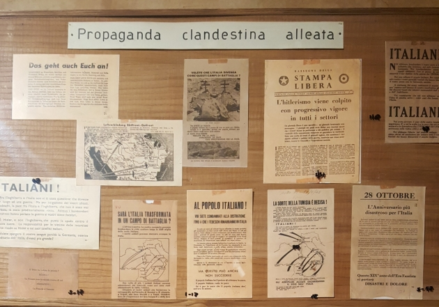 This clandestine propaganda wall showed how the resistance disseminated information.
